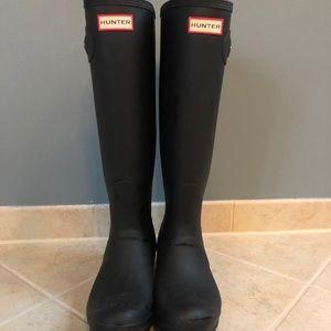 Hunter Boots Matte Black